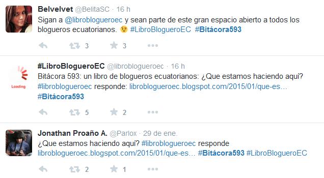 #LibroBlogueroEC en Twitter