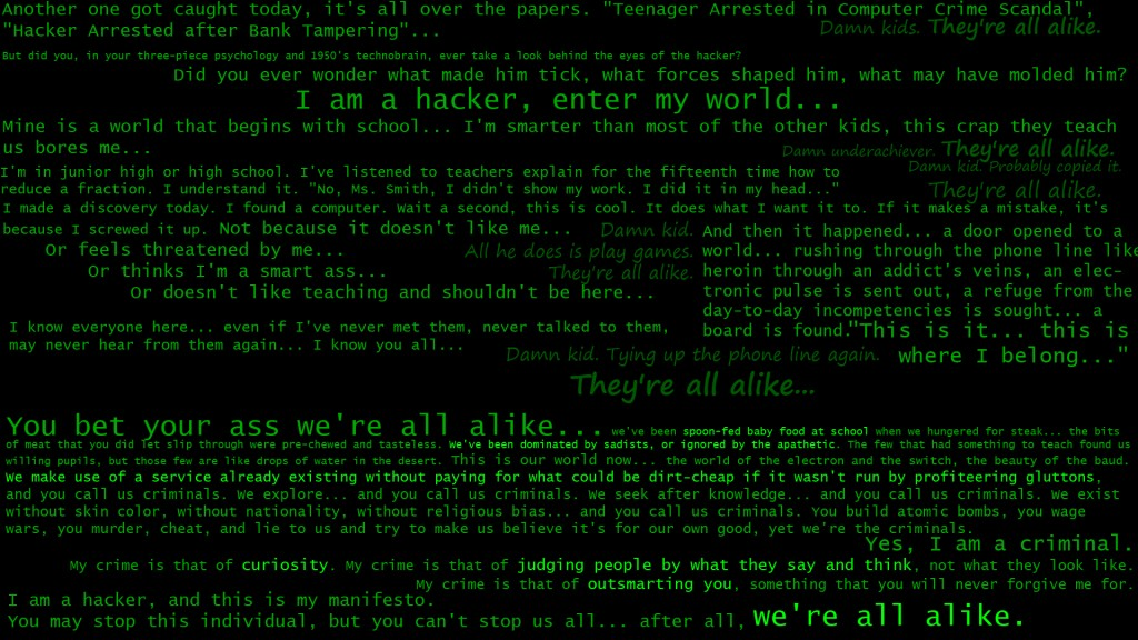 Hacker Manifesto Background - The Hackers Post