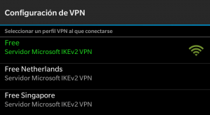 Configuración VPN en BlackBerry Z30