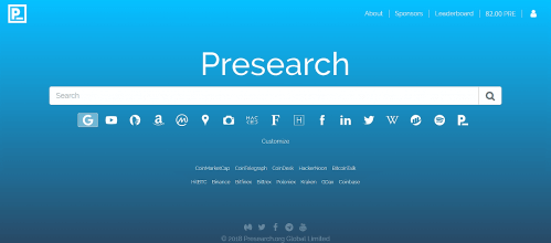 Presearch Portal Screenshot