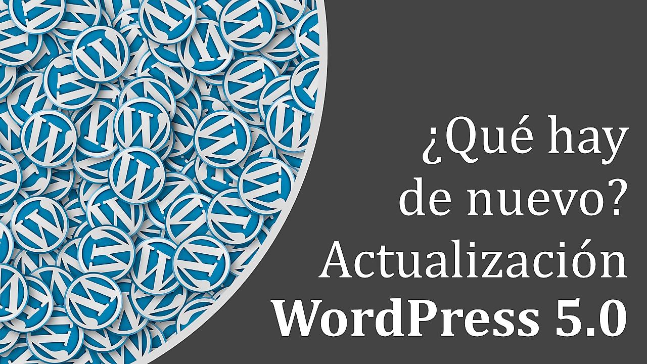Actualización WordPress 5.0 ¿Qué hay de nuevo?